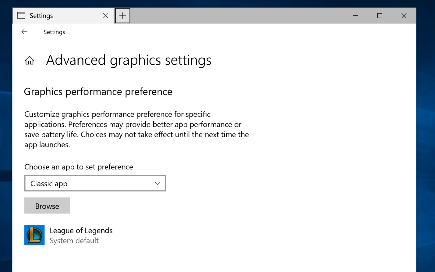 application with default 3d settings