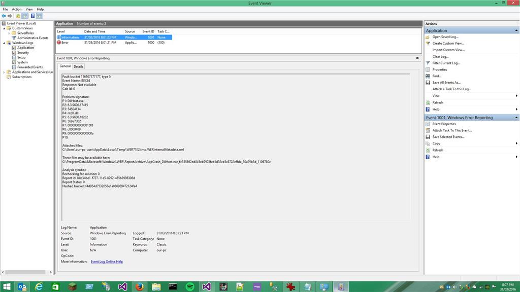 support ticket application xml file