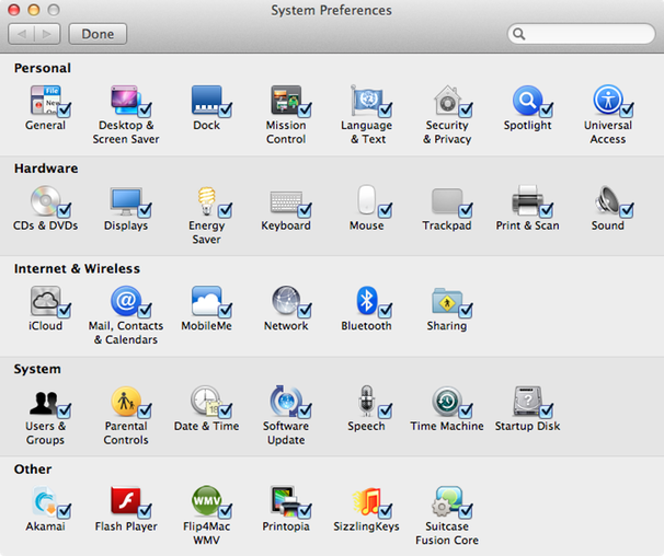 how to remove applications from system preferences