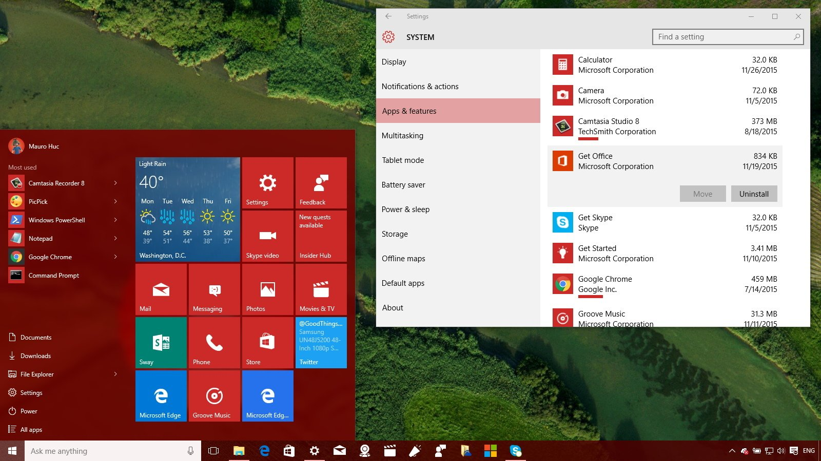 windows 10 2018 which pre-installed applications to remove