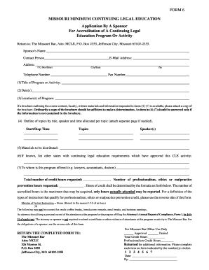 application for accreditation of cle activity texas