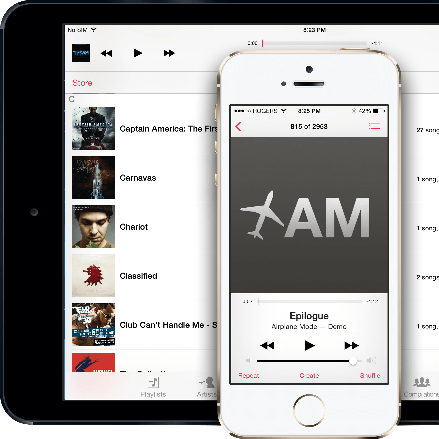 working iphone application download music