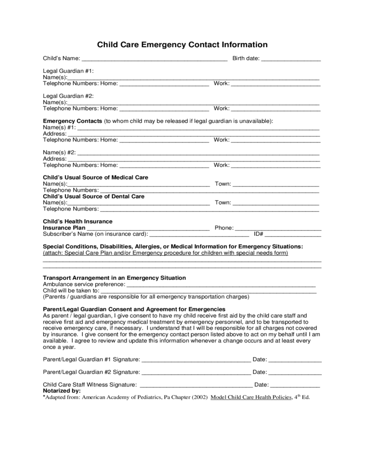 application for child care at home
