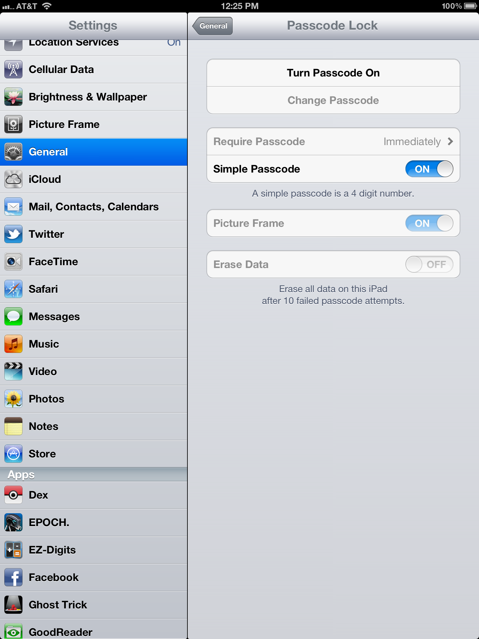ipad restricted in some applications