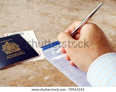 canadian passport application form at the post office