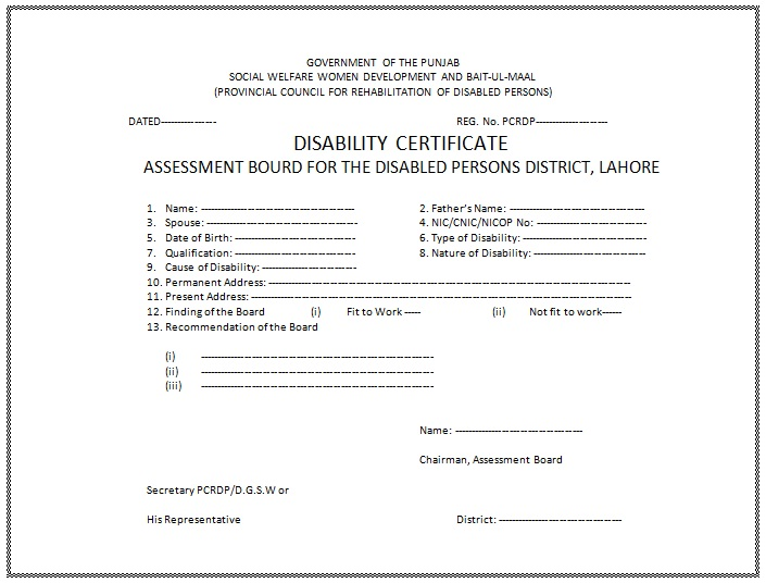 permanent application for protected person fee